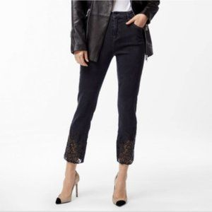 J Brand   Ruby High Rise in Moonlight Laser Lace